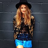 Isabelle Cornish was looking stunning on a sunny day in Sydney. Source: Instagram user stylemeromy