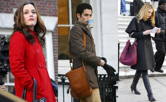Photos of Blake Lively, Leighton Meester, Penn Badgley on the Set of Gossip Girl in NYC