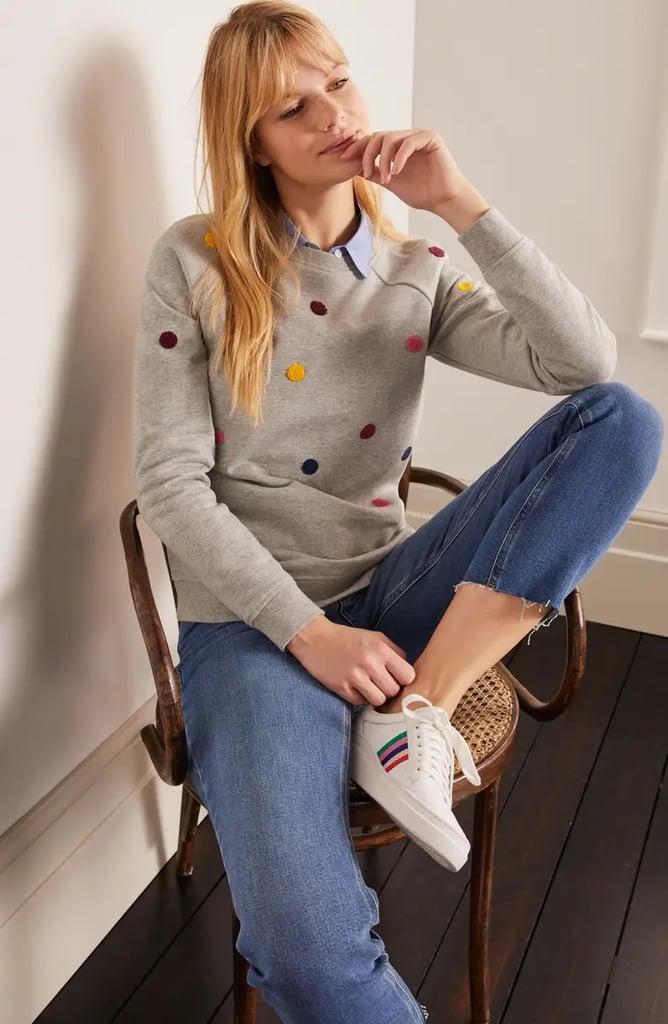 Boden Stretch Cotton Sweatshirt