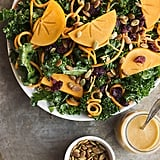 Massaged Kale Salad With Sweet Potato Noodles, Persimmon, and a Smoky Orange Vinaigrette