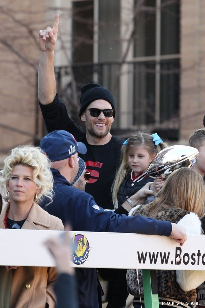 Tom Brady and His Family at 2019 Super Bowl Parade | POPSUGAR