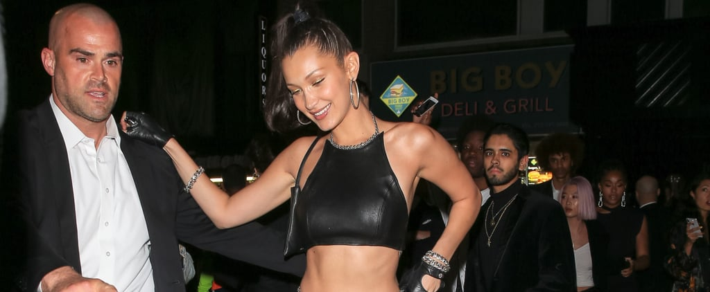 Bella Hadid's Leather Met Gala Afterparty Look 2018