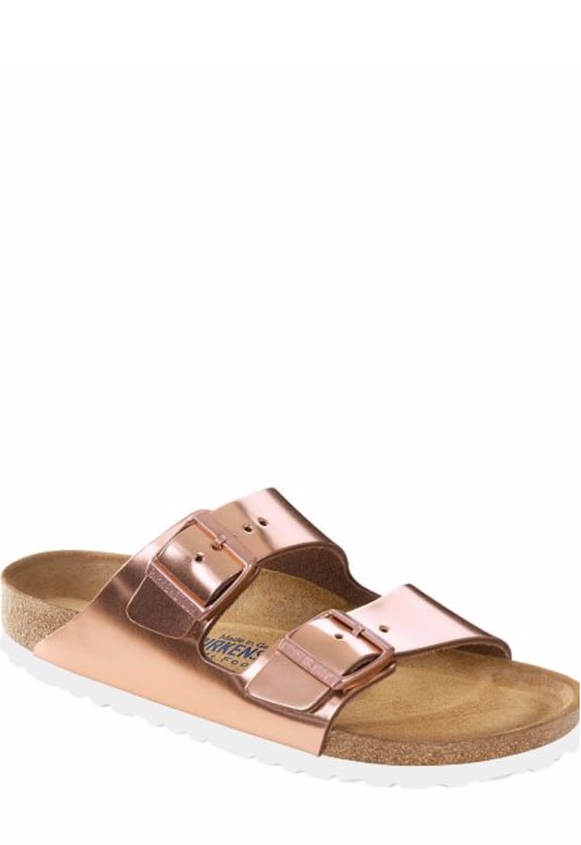 Birkenstock Arizona Metallic Leather Buckle Sandals GxoZJPlle