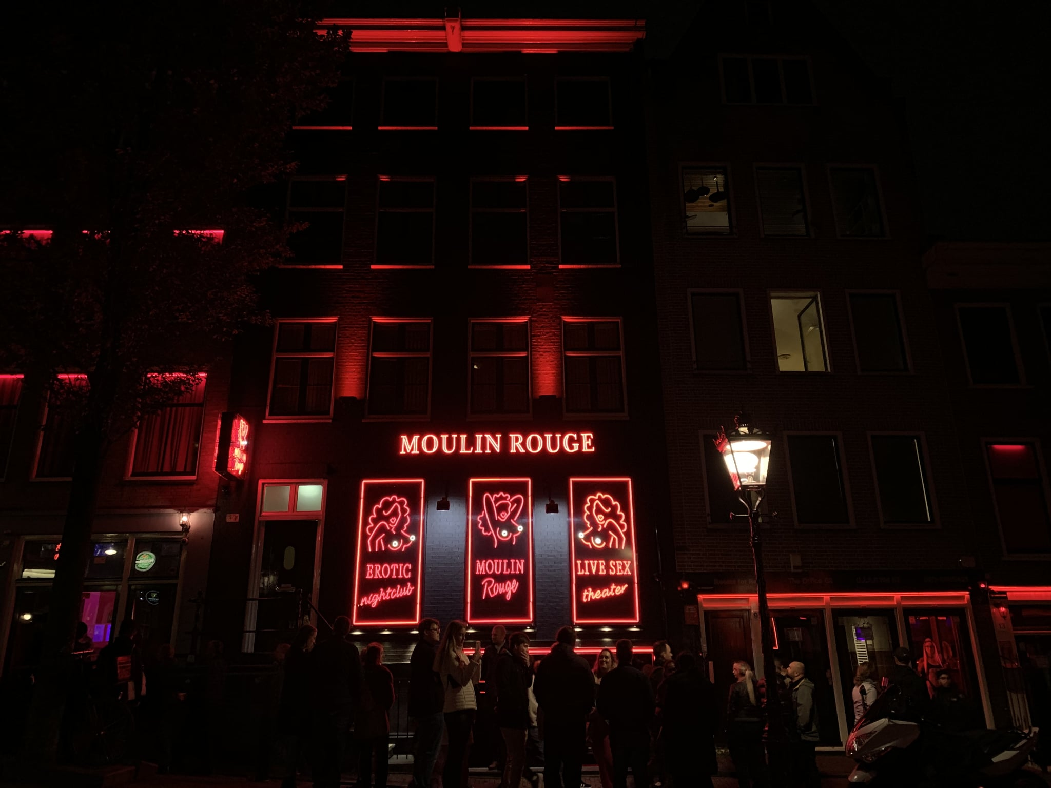 Moulin Rouge in the Red Light District of Amsterdam