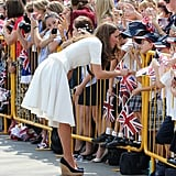 Kate Middleton chatted with her fans while in Singapore.