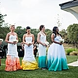 Wedding With Bridesmaids in Rainbow Dresses