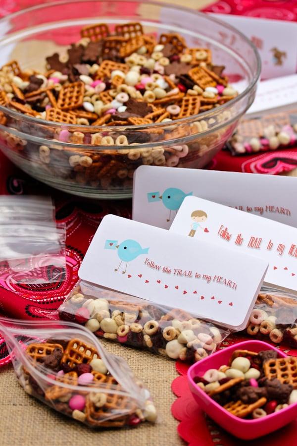 Trail Mix Valentine Diy Noncandy Printable Valentine S