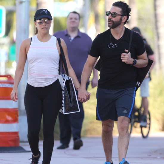 Eva Longoria and Jose Antonio Baston in Miami January 2017