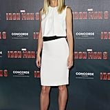Gwyneth Paltrow wore KaufmanFranco at the Iron Man 3 photocall in Munich.