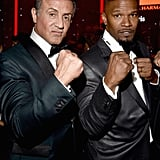 Pictured: Jamie Foxx and Sylvester Stallone