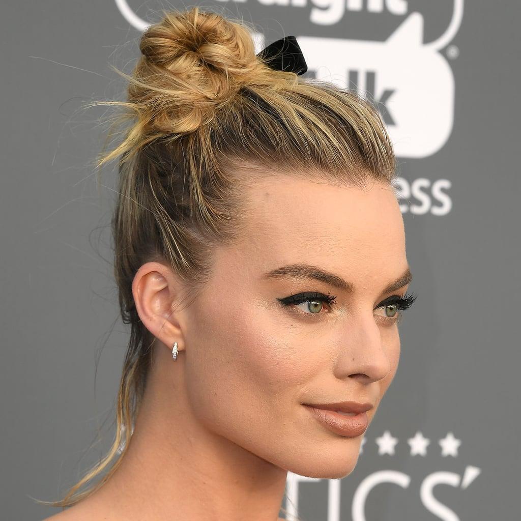 Margot Robbie\'s Best Updo Hairstyles | POPSUGAR Beauty