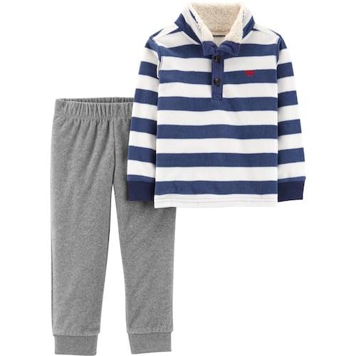 b7a59b144 Carter's Striped Fleece Sherpa Pullover Top & Pants Set | Best ...