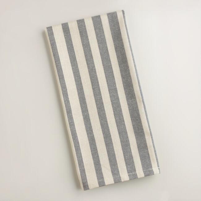 world market gray ombre stripe kitchen towel cheap farmhouse decor