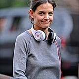 Photos of Katie Holmes On Set With Beats by Dr. Dre Headphones