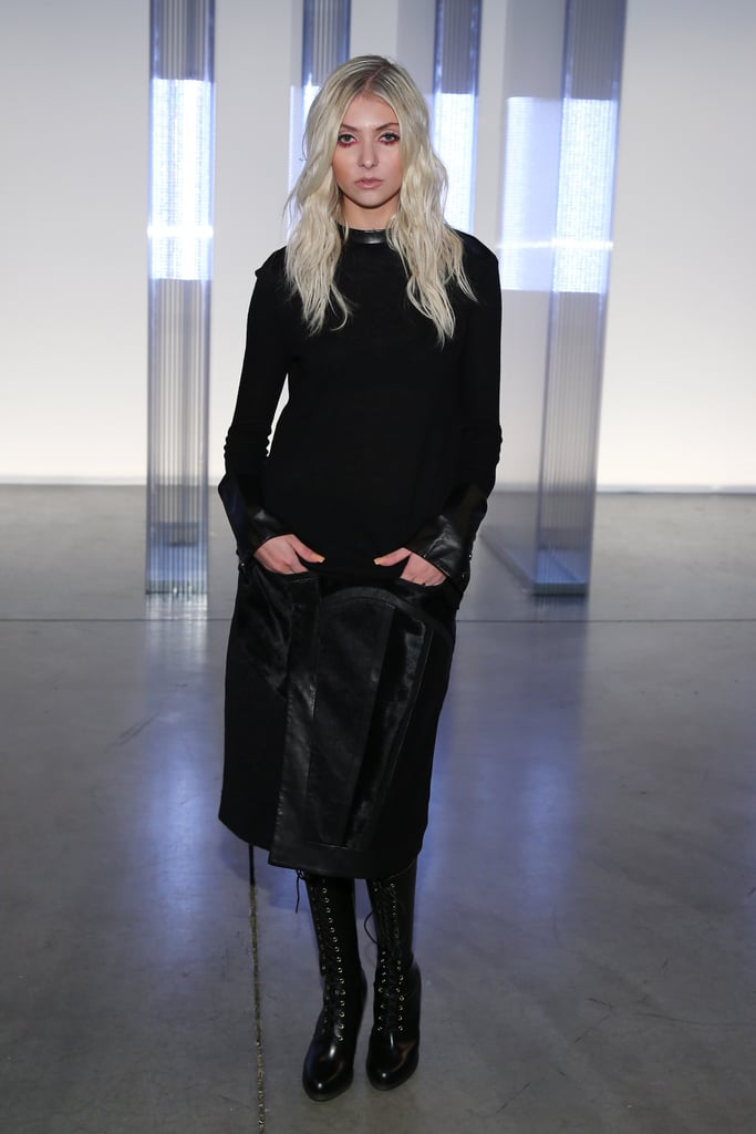 Taylor Momsen sported an all-black ensemble for the Helmut Lang show on Friday.