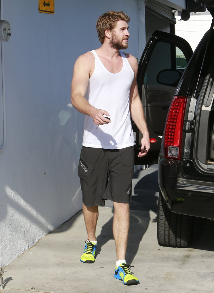 Liam Hemsworth had a private workout session in LA.