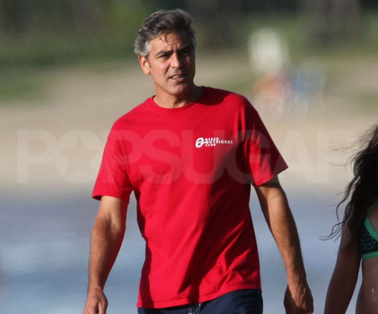 Slide Picture of George Clooney in Hawaii on His Birthday