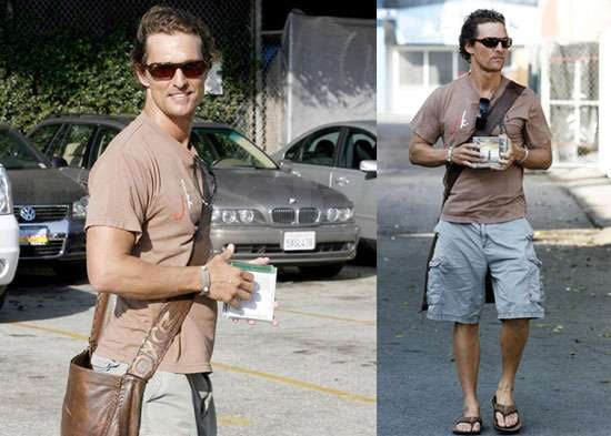 Photos of Matthew McConaughey at His LA Office