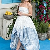 At the premiere of Mamma Mia! Here We Go Again, Lily wore an Oscar de la Renta gown that was like a work of art.