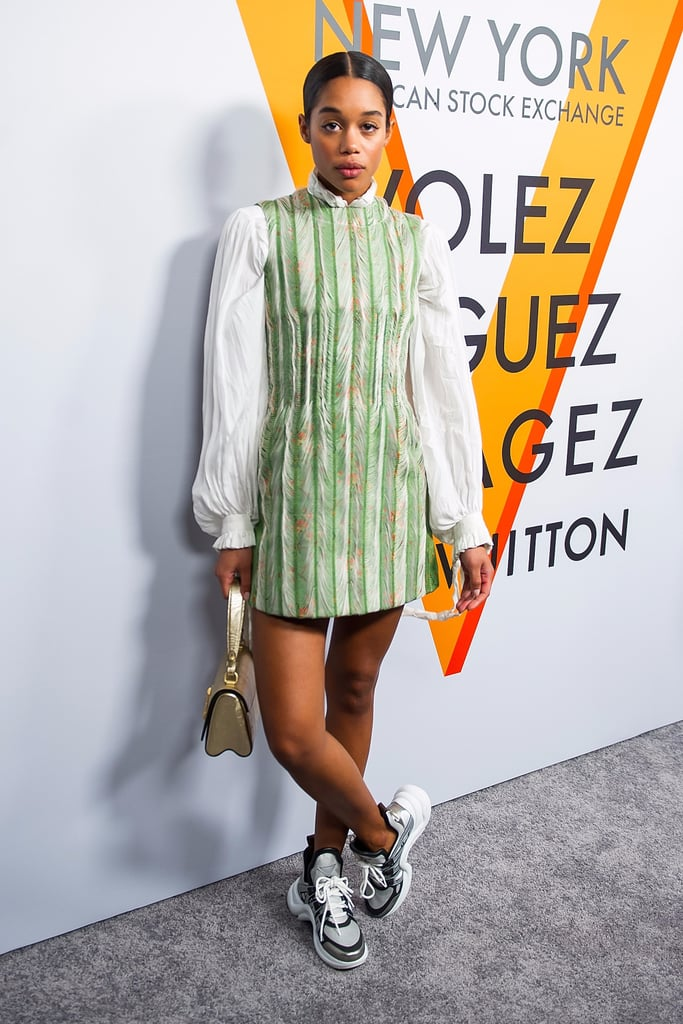 "Laura Harrier Might Be Wearing ""Dad Shoes,"" but They Worked Like a Charm"
