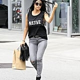 A little extra room in arms goes a long way toward making Kourtney's look feel slightly edgier and sexier. Noted.