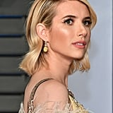 Emma Roberts Prada Dress at Oscars Afterparty 2018