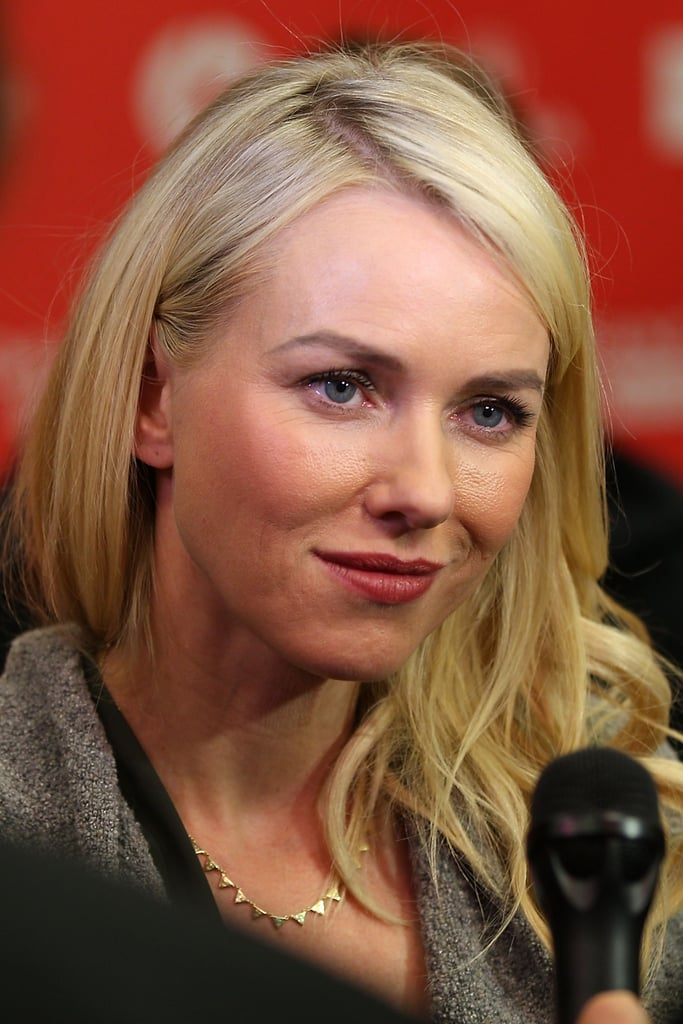Naomi Watts spoke with reporters on Friday.