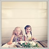 Harper Smith was joined by a friend for lunch al fresco. Source: Instagram user tathiessen