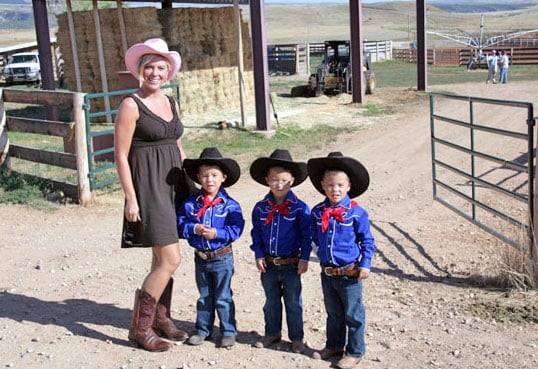 Photos of Kate Gosselin and Her Sons on Dude Ranch