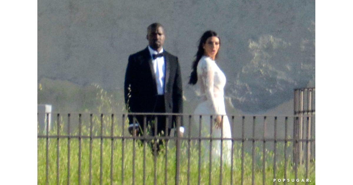 Kim Kardashian And Kanye West Wedding Pictures 2014 Popsugar Celebrity