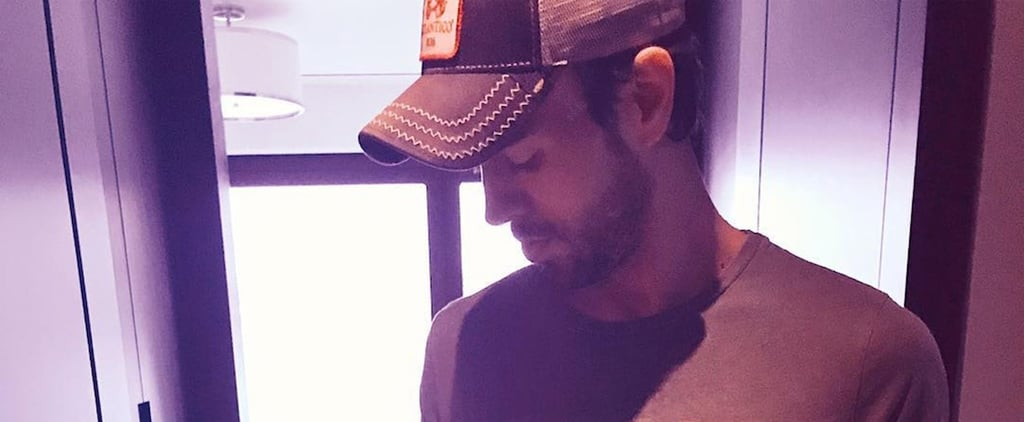 Picture of Enrique Iglesias Holding His Baby April 2018