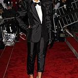 Rihanna's black-and-white look gave off Janelle Monáe vibes — before Janelle Monáe.