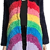 Manoush Rainbow Rabbit Fur Coat