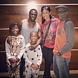 Kevin Hart hung out with his family.