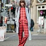 A Printed Jumpsuit and a Classic Coat