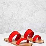 Forever 21 Faux Suede Strapped Sandals