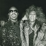 Stevie Wonder and Whitney Houston at the 1986 American Music Awards