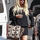Jessica Simpson got back to work at a photo shoot.