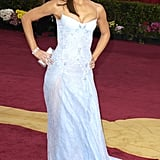2003: She walked the red carpet in a powder blue dress, showing off her enviable arms.