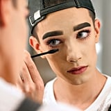 POPSUGAR: When did you realize you wanted to be a makeup artist and what inspired your love of makeup? What steps have you taken as a 17-year-old to make this dream come true? James Charles: I tried makeup for the first time a year ago, but I loved the feeling of being able to finish a glam look on a friend and having them feel beautiful. I knew then it was what I wanted to do. On social media, I try hard to be myself and inspire others by stepping outside the box and never being afraid to speak my mind or conforming to the norm. PS: What went through your mind and how did you feel when Zendaya retweeted your famous school portrait? JC: I WAS SHOOK! I love her and now we follow each other on Instagram, so we're basically like BFFs. OK, maybe not, but I wish. One day. PS: Who makes your favorite ring light? And why do you think it makes photos better? Walk us through that school picture day . . . JC: My ring light is just a random one from Amazon! They're great for beauty photographing because it distributes even lighting all around the face, so there are no harsh shadows. Picture day was crazy. I woke up early to get glammed, but my original pics did not do it justice. I usually would never be this picky, but it's my senior pics and I did want to post them on Instagram, so I reached out to the company and asked to retake them and the rest is history!