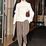 Victoria Wearing Her Plaid Pants in New York