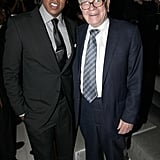 Jay-Z and Warren Buffett at the grand reopening of Jay-Z's 40/40 Club.