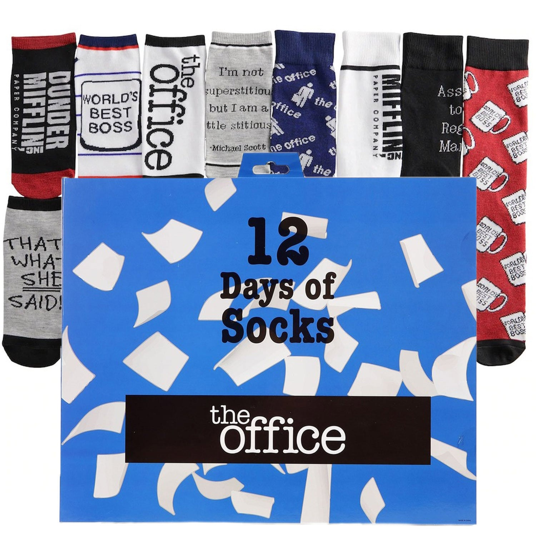 The Office Dunder Mifflin Sock Advent Calendar For Christmas Popsugar Entertainment