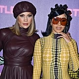 Jennifer Lopez and Cardi B at the Husters Photocall in LA