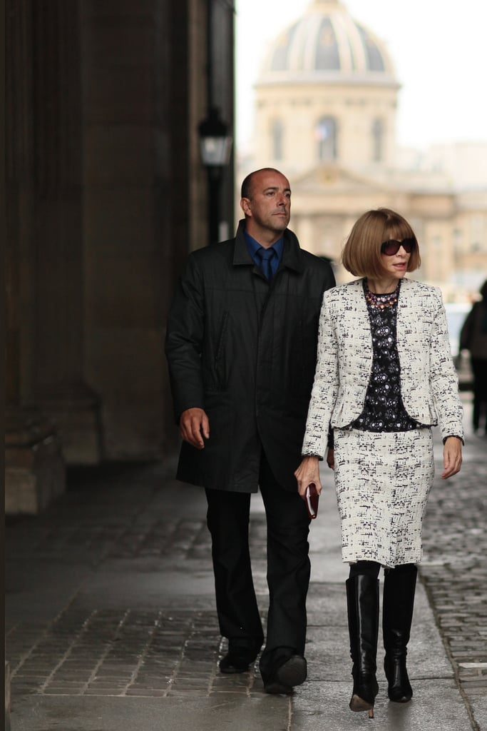 Anna Wintour showed off her a play on her usual tweed.