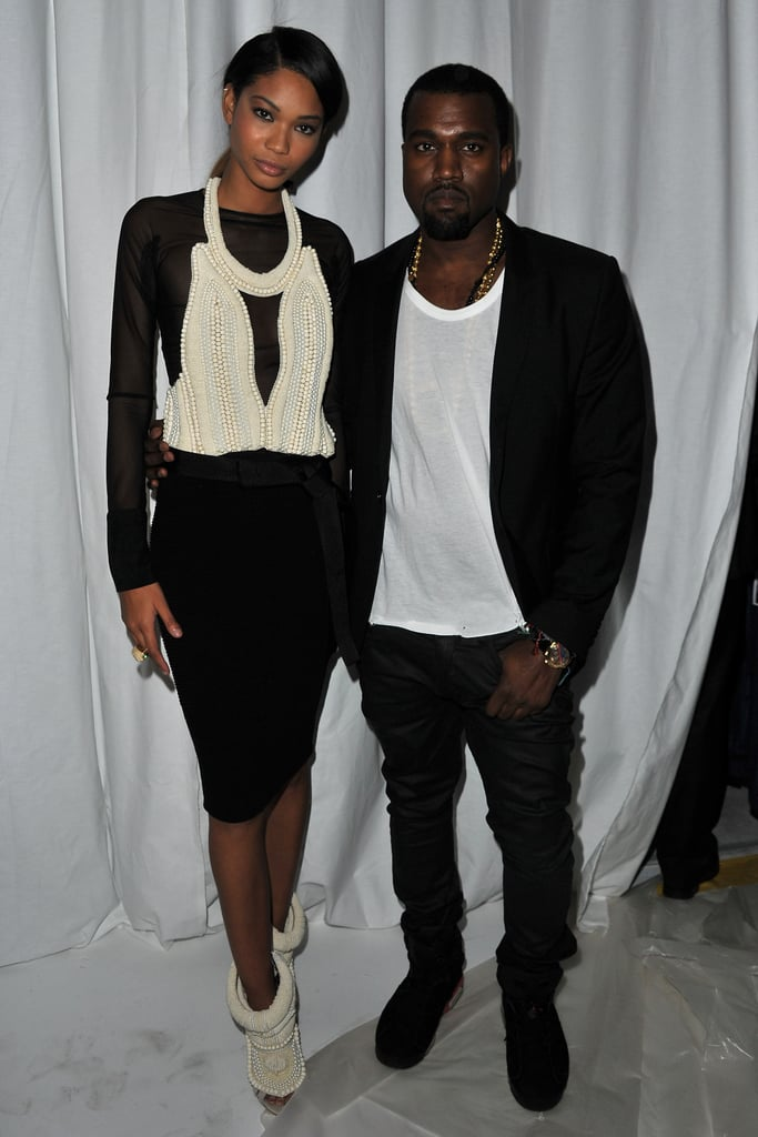 Chanel Iman and Kanye West