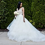 She Wore a Tulle Lazaro Wedding Dress