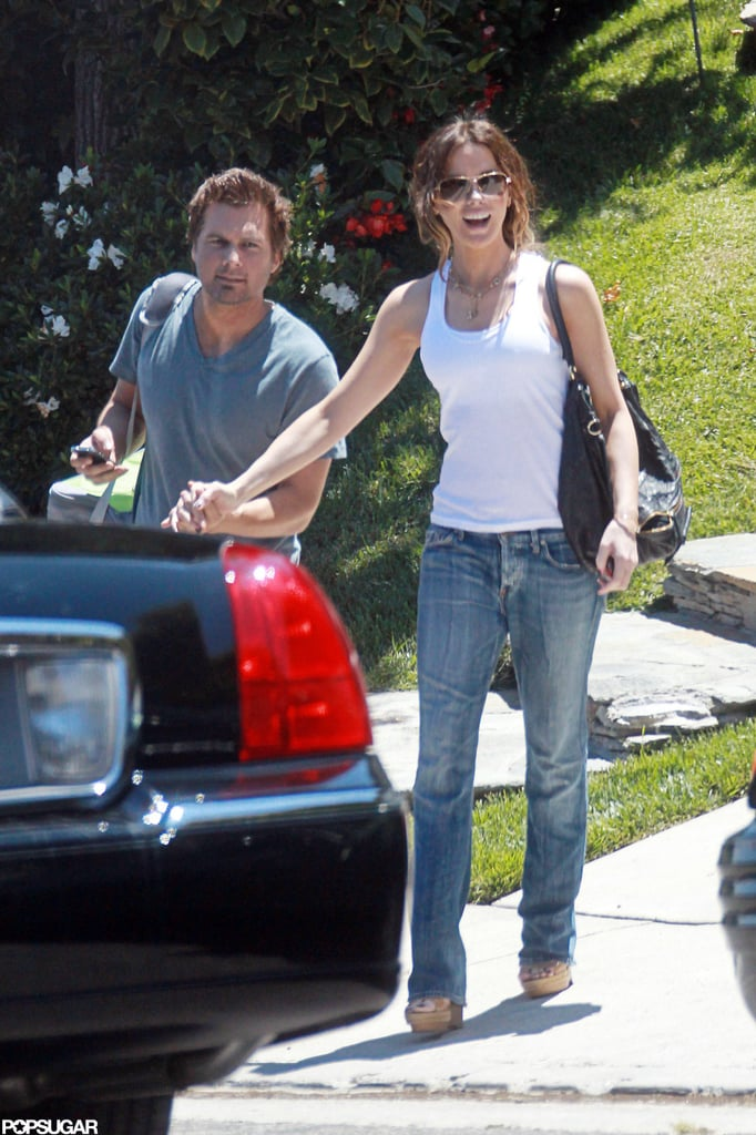 Kate Beckinsale and Len Wiseman hung out in LA.