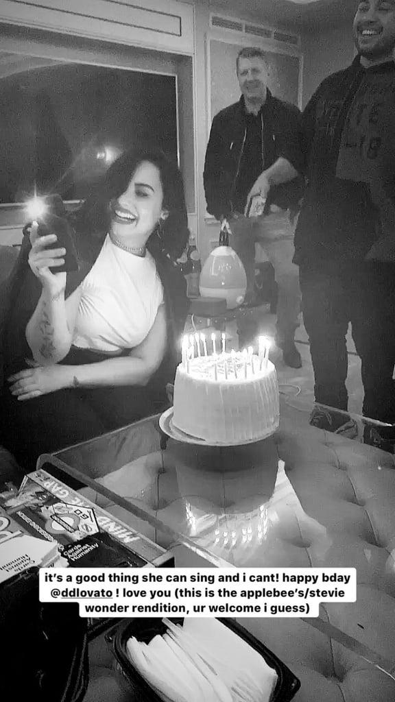 Demi Lovato's Birthday at Ariana Grande Concert 2019