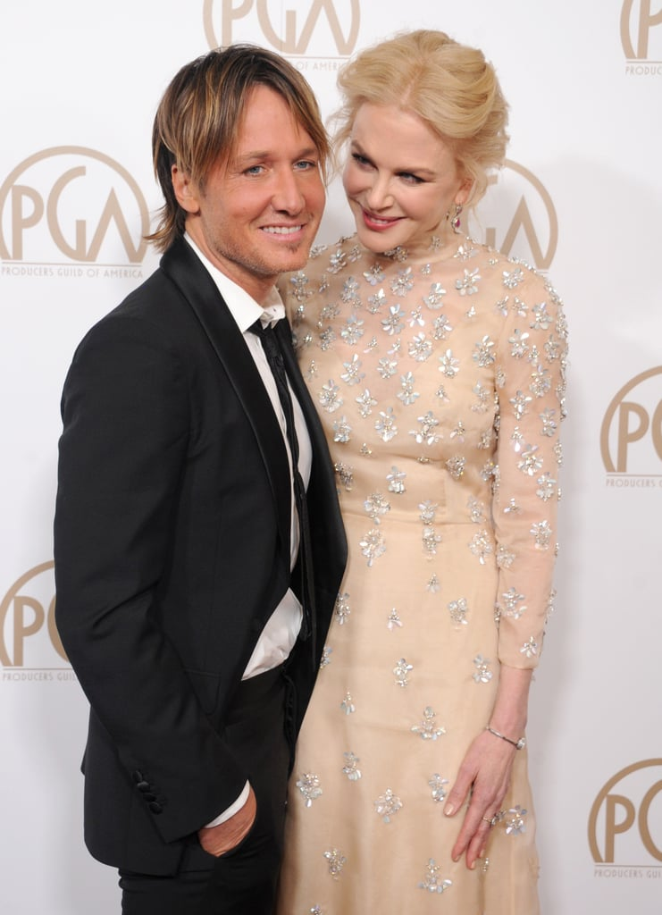 Nicole Kidman and Keith Urban pulled double duty on Saturday night by popping up at two high-profile events. They first hit up the Producers Guild Awards in Beverly Hills and then made their way to the G'Day Black Tie Gala in Hollywood, where they showed off their decade-long romance at both events. Nicole and Keith have been spreading their love all over the globe ever since they tied the knot in June 2006, and during a recent interview, the Big Little Lies star revealed they keep the love alive by making time for sex . . . even when their kids are home. So, there you have it.      Related:                                                                                                           Nicole Kidman and Keith Urban's One-of-a-Kind Romance, in Their Own Words